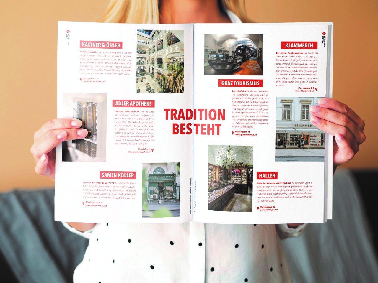 Eine Seite vom Echt Graz Magazin